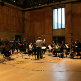 recording at Snape Maltings, with the Marian Consort & the Berkeley Ensemble