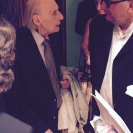 with Joseph Horovitz - Horovitz 90th birthday concert, Cadogan Hall, London - July 2016