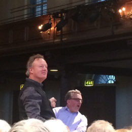 with Howard Goodall during a 'Come & Sing for Syria' - St John's Smith Square, London - January 2017